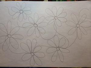Continuous line flowers