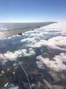 My plane over Atlanta.